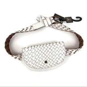Patricia Nash Leather Braided Ponticelli Belt Bag